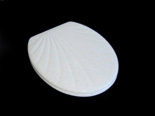 WC Sitz Klobrille Muschelform Duroplast, granit, 14805