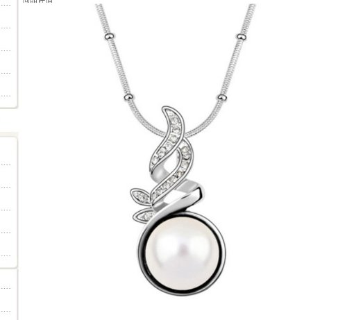 Mqueen Fashion White Mother Of Pearl Pendant Necklace front-910830