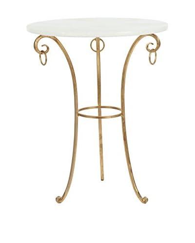 Safavieh Alex Accent Table, White/Gold