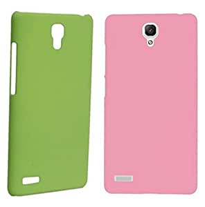 Chevron Back Cover Combo Of 2 for XiaoMi RedMi Note 4G (Green, Light Pink)