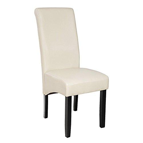 Tectake sedia design per sala da pranzo marrone altezza for Sedia design amazon