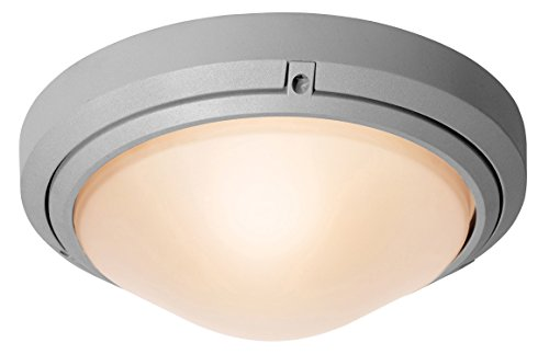 Access Lighting 20355Mgled-Sat/Fst Oceanus Led Light Wet Location 12-Inch Diameter Flush/Wall Mount With Frosted Glass Shade, Satin Finish