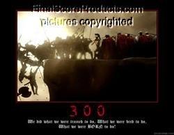 300 Framed Motivational Movie Poster