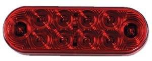 """6"""" Red Led Truck Trailer Boat Light Stop Tail Turn Stt"""