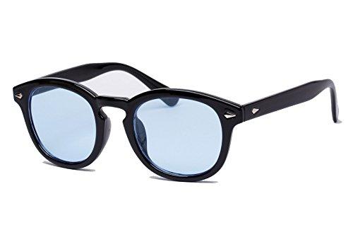 Bestum Retro Inspired Sunglasses With Rivets Tinted Lens UV400 (Black, Light blue) (Light Blue Sunglasses compare prices)