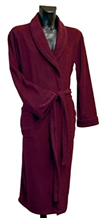 Lloyd Attree & Smith - Robe de Chambre en Maille Polaire - Homme - Bordeaux (XL)