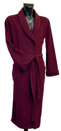 Lloyd Attree & Smith Microfibre Fleece Dressing Gown - Burgundy