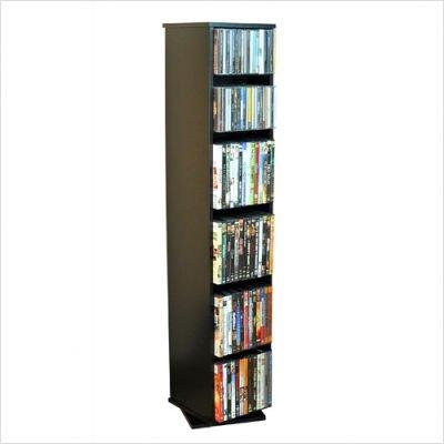 Revolving Media Library - Hold 160 CD's (black) (48H x 10W x 10D)