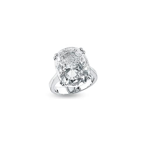 Amazon 16 0 Ct Elongated Cushion Cut CZ Solitaire Engagement Ring Jewelry