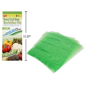"Green Fresh Zip Seal Bags 8-pc 10.5x11"" - 1"