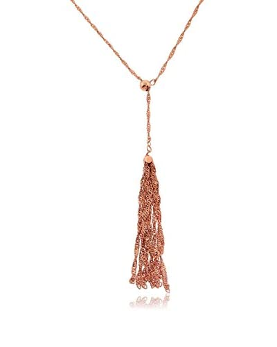Juinsix Made in Italy Collection 14K Rose Gold-Plated Singapore Chain with Bead Adjuster & Singapore Tassel