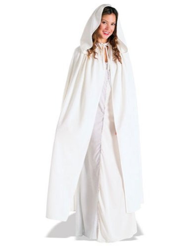Costume-Accessory Arwen White Cloak Halloween Costume Item - 1 size