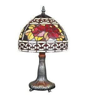 10 inch european style hibiscus flowers tiffany table lamp for 10 inch table lamps