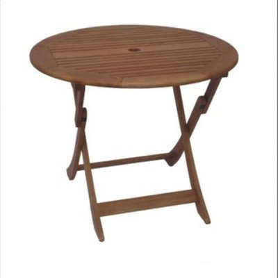DC America SET900, Sequoia Folding Table, Hardwood with Natural Finish picture
