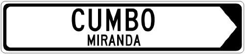 CUMBO, MIRANDA – Venezuela Directional Arrow This Way Aluminum Sign – Arrow Right – 4 x 18 Inches