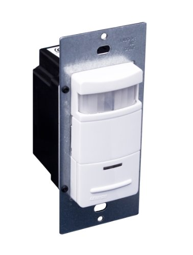 Decora Passive Infrared Wall Switch Occupancy Sensor, 180 Degree, 2100 sq. ft. Coverage, Self-Adjusting, Various Colors Available, ODS15-ID