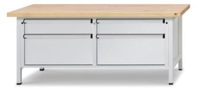 Werkbank-mit-XLXXL-Schubladen-Breite-2000-mm-4-Schubladen-Front-lichtgrau-Werkstattausstattung-Arbeitspltze-Werktische-Schwerlastwerkbnke-Werkbnke-Werkstattausstattung-Arbeitspltze-Werktische-Schwerla