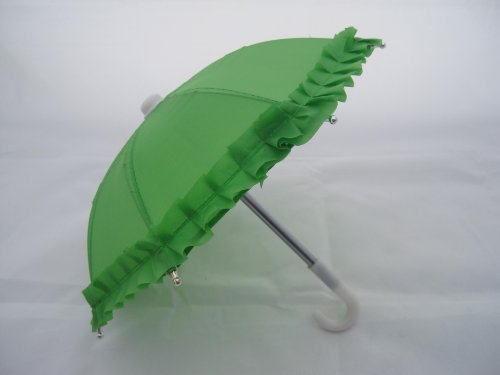 "Unique Doll Clothing Lime Green Doll Umbrella for 18"" Dolls Including the American Girl Line"