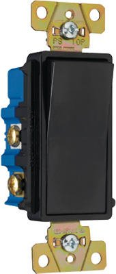 Pass & Seymour Tm874Bkcc6 4-Way Decorator Switch, Grounded, 15-Amp, 120-Volt, Black