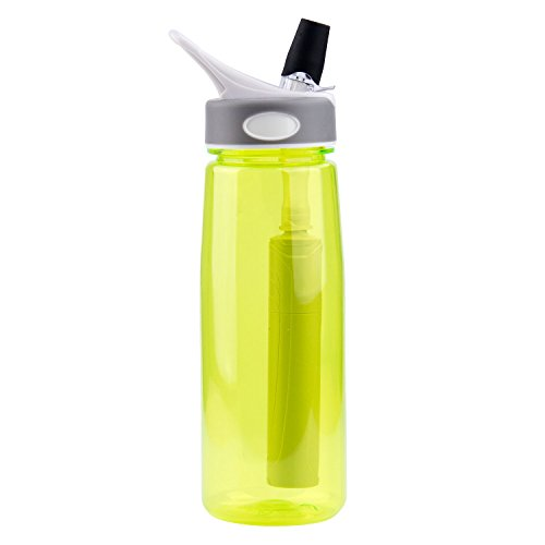 Clear Flow Water Filter - 1,000-L Carbon and Hollow Fiber Membrane Water Filter Straw - Survivor or Emergency Filter (Water Filter Bottle Metal compare prices)