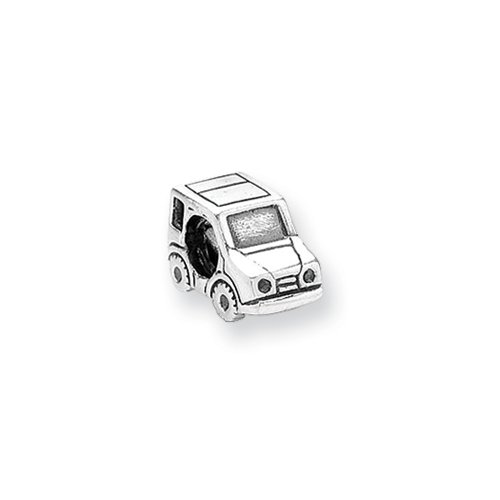 SUV Truck Charm in Sterling Silver for 3mm Charm Bracelets