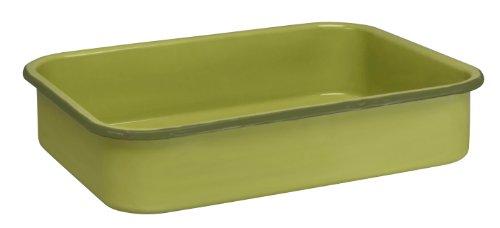 Cinsa 312042 Trend Ware Enamel on Steel Open Roaster, 8-1/2-Quart, Green Tea