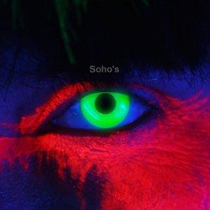 i-Glow Green UV Kontaktlinsen