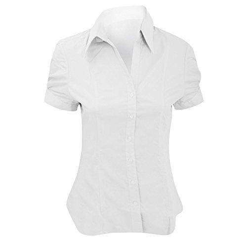 Brook Taverner - Camicia Manica Corta - Donna (IT 44) (Bianco)