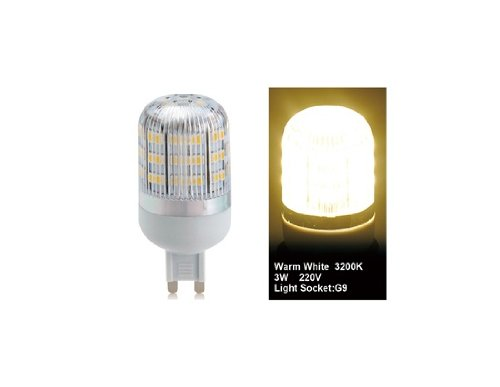Wrui3528-48L-220V 3W G9 48 X 3528Smd Warm White Led Corn Bulb With Cover