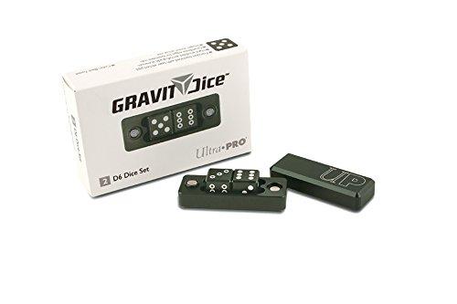 "Ultra Pro d6 Gravity Dice - Black Forest [2 Six-Sided 0.630"" Dice Set Aluminum]"
