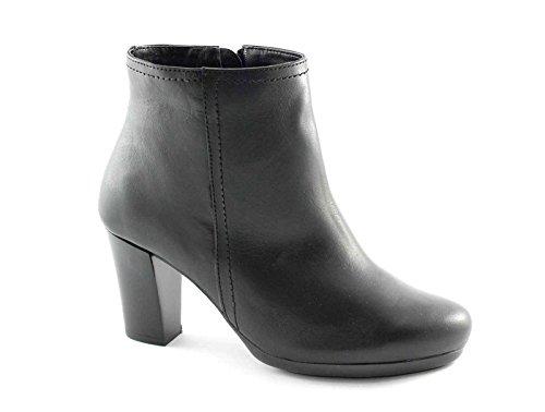 GRUNLAND AQUA PO0568 nero scarpe donna stivaletti tronchetti zip tacco 40