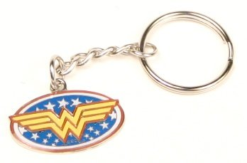 Wonder Woman Logo Keychain With Stars