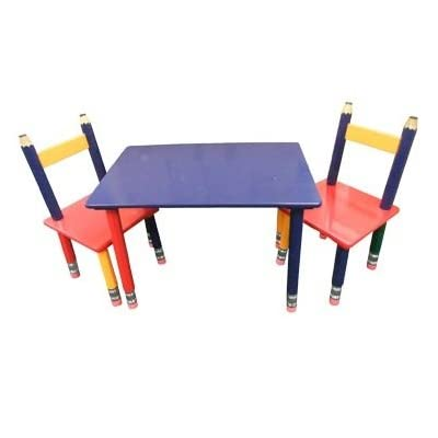 Wooden Pencil Table and 2 Chairs