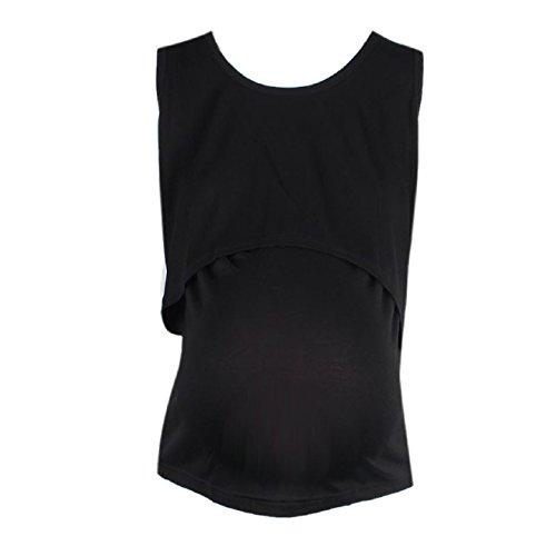 Ularmo Pregnant Maternity Clothes Nursing Tops Breastfeeding Vest T-Shirt