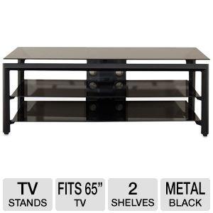 buy low price cravin tdlbh44 44 metal and glass tv stand tdlbh44. Black Bedroom Furniture Sets. Home Design Ideas
