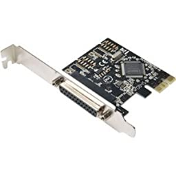 SYBA Multimedia SD-PEX10005 1-port PCI Express Parallel Adapter. 1PORT PARALLEL CARD PCI EXPRESS MCS9901 CHIPSET PARCRD. 1 x IEEE 1284 Parallel PCI Express x1