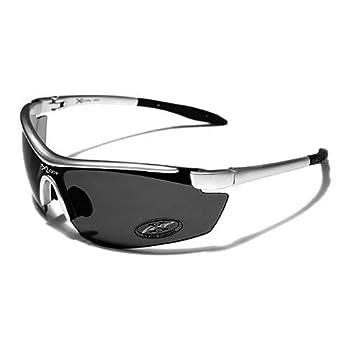 X-Loop Lunettes de Soleil - Sport - Cyclisme - Ski - Conduite - Moto / Mod. 3550 Gris Clair / Taille Unique Adulte / Protection 100% UV400