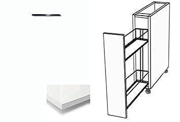 Premium-Ambiente ALRHPA46 Unterschrank Apothekerschrank 50cm HOCHGLANZLAMINAT (86 Bianco)
