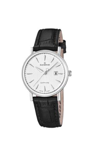 Candino C4488/2 - Reloj analógico de cuarzo para mujer con correa de piel, color negro