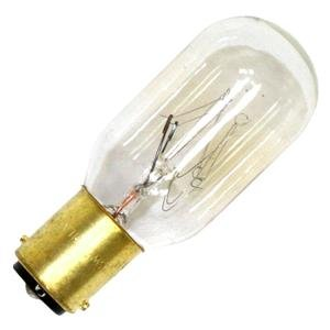 Sylvania 18321 25-Watt Clear Tubular Double Contact Bayonet Base Incandescent T8 Bulb