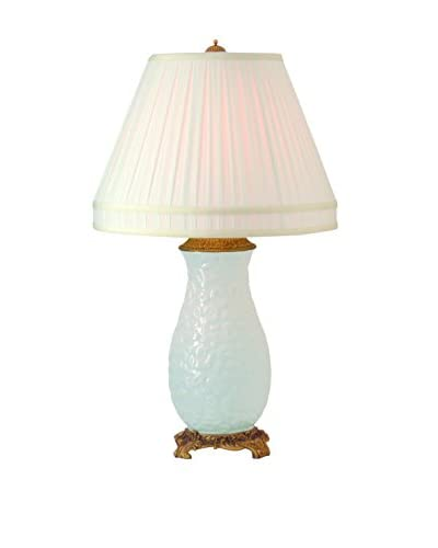 City Scape Leopard Lamp, White