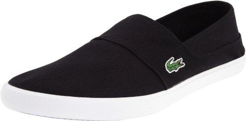 Men's Lacoste, Clemente casual Slip-On shoe BLACK / WHITE 11.5 M
