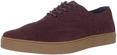 Cole Haan Men's Bergen Wingtip SneakerOxblood Suede10 M US