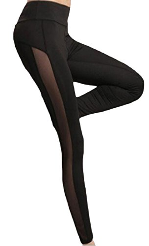 Honey-GD-Womens-Tights-Stretch-Running-Pants-Yoga-Pant-Mesh-Leggings