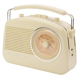 König HAV-TR800BE Retro-Radio mit Bluetooth beige