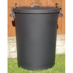 110 Litre Black Bin/Refuse Bin With Lockable Lid