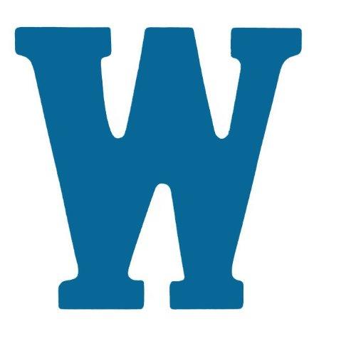 """Kidkraft 8"""" Wood Letter Blue W"""