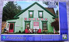 Colorful Quilt Shop Mahone Bay Nova Scotia Canada 500 Piece Jigsaw Puzzle