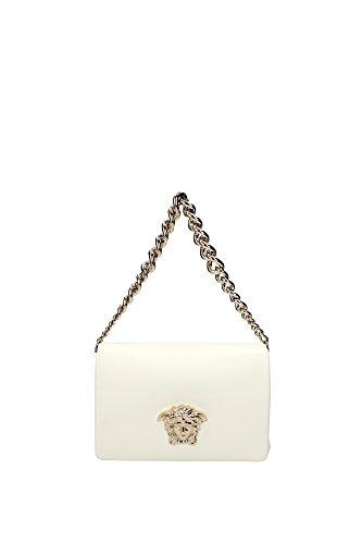 Borse a Spalla Versace Donna Pelle Bianco e Oro DBFEDNAPP1DOC Bianco 8x16x23.5 cm
