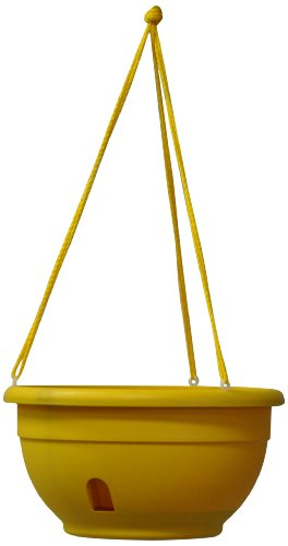 Eezy-Gro Self-Watering Hanging Planter, 12-Inch, Yellow (Self Watering Hanging Planter compare prices)